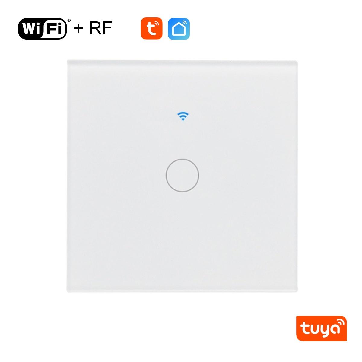 Jednotlačítkový WiFi+RF vypínač - Tuya
