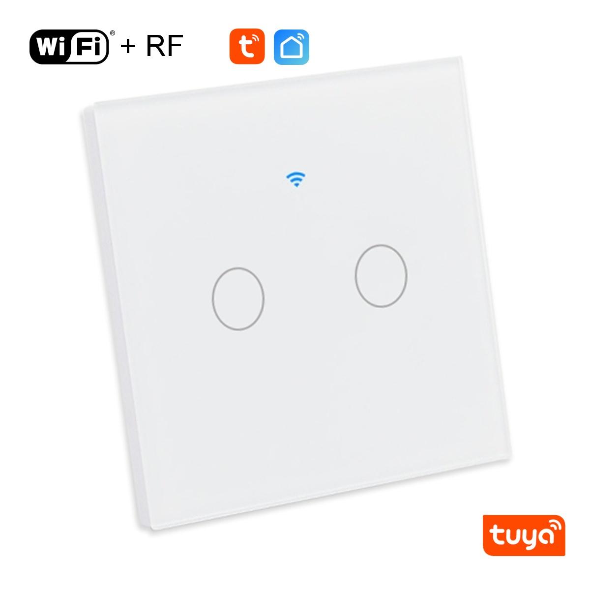 Dvoutlačítkový WiFi+RF vypínač - Tuya