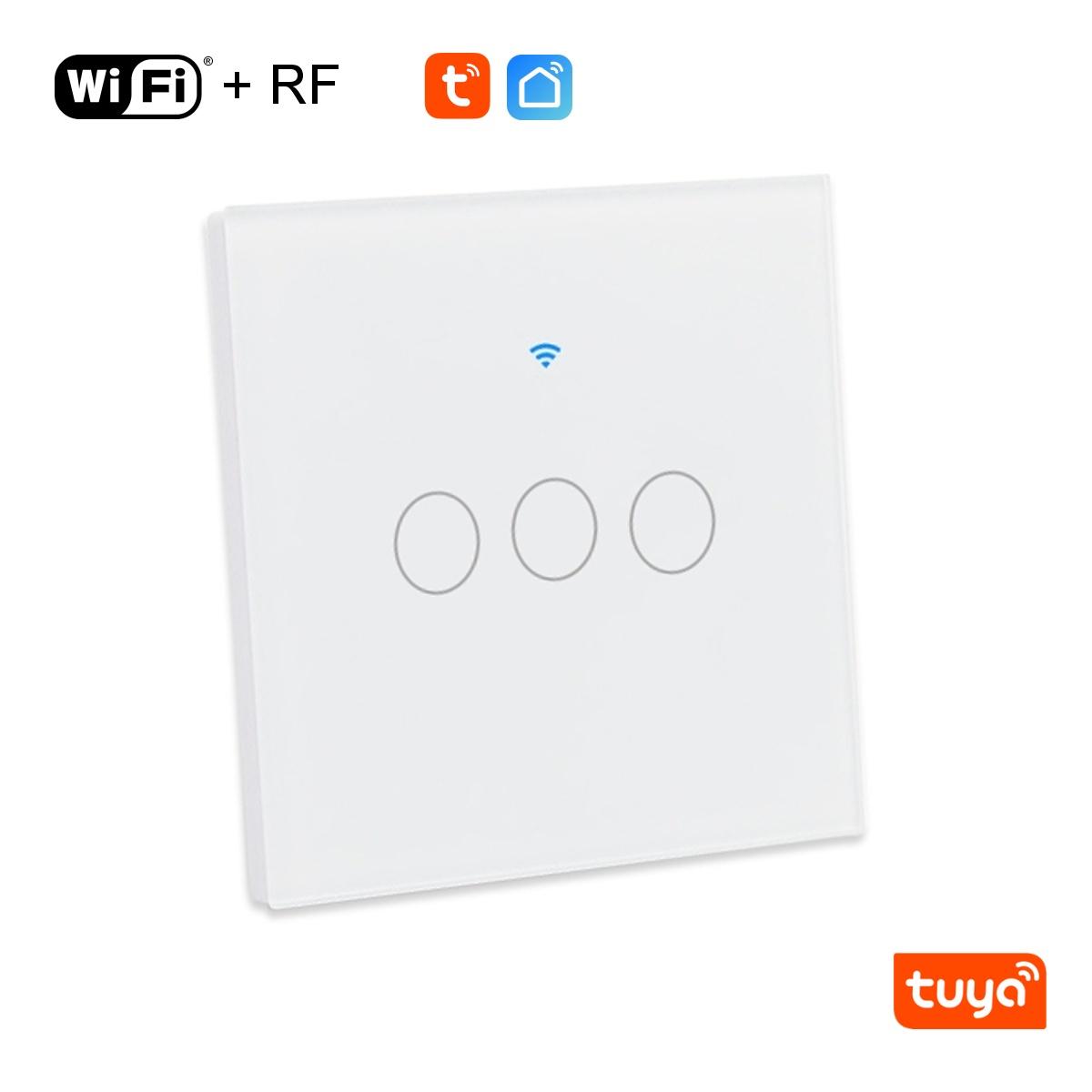Třítlačítkový WiFi+RF vypínač - Tuya
