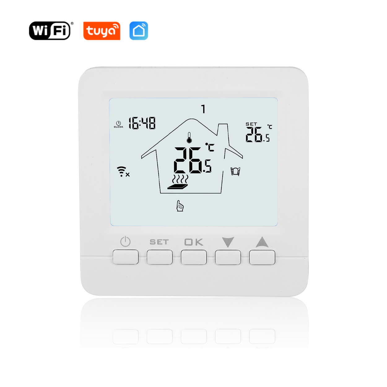 WiFi Termostat 16A pro přímotopy - Tuya