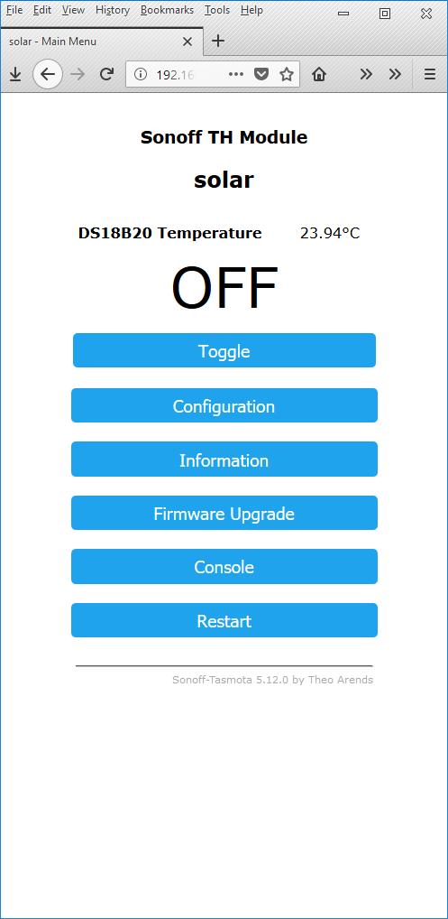 Tasmota - Alternativní Firmware pro Sonoff spínače
